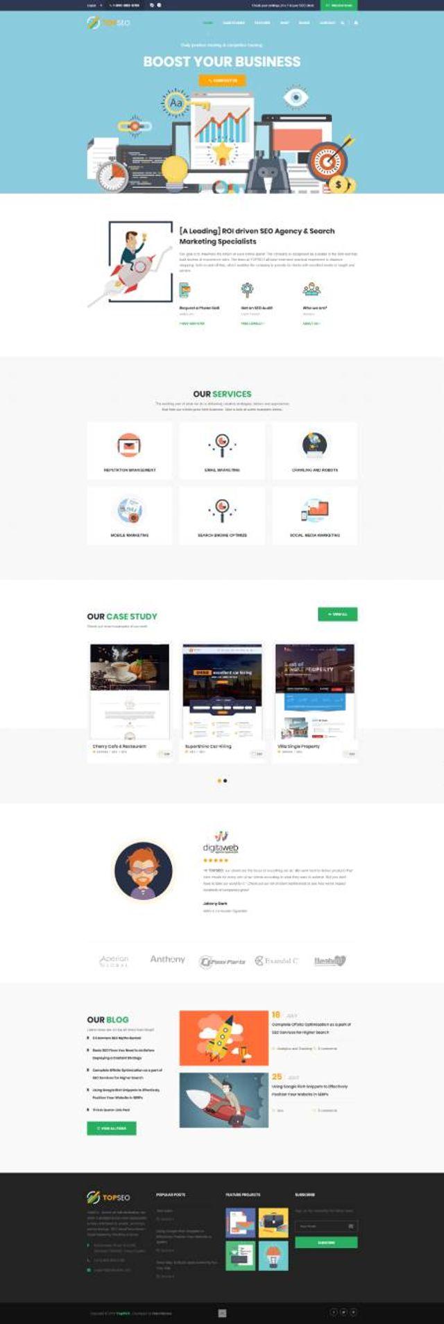 GD0706 – Mẫu Website Công Ty Marketing TopSEO