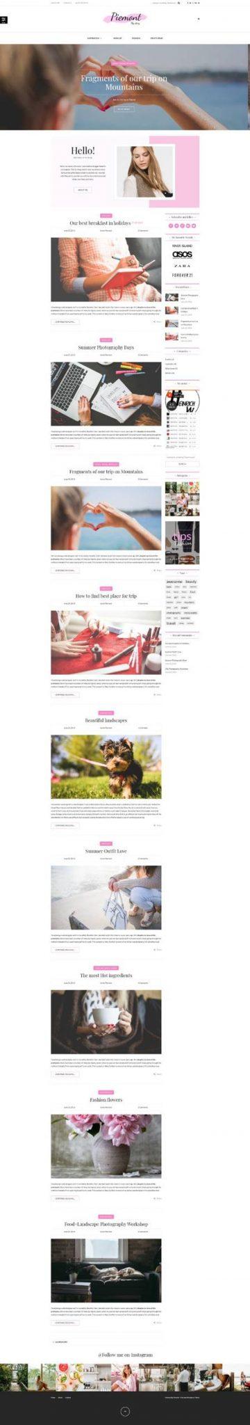 GD0711 – Mẫu Website Blog Cá Nhân Piemont