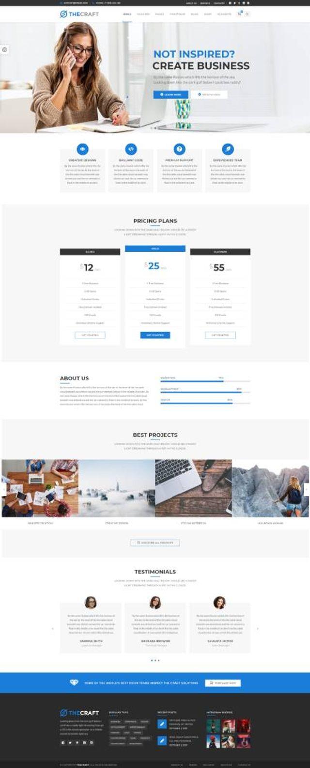 GD0716 – Mẫu Website Cá Nhân TheCraft