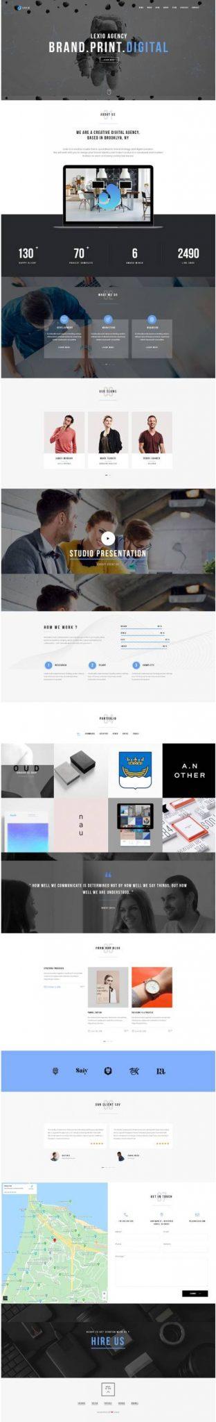 GD0720 – Mẫu Website Giới Thiệu Công Ty Lexio