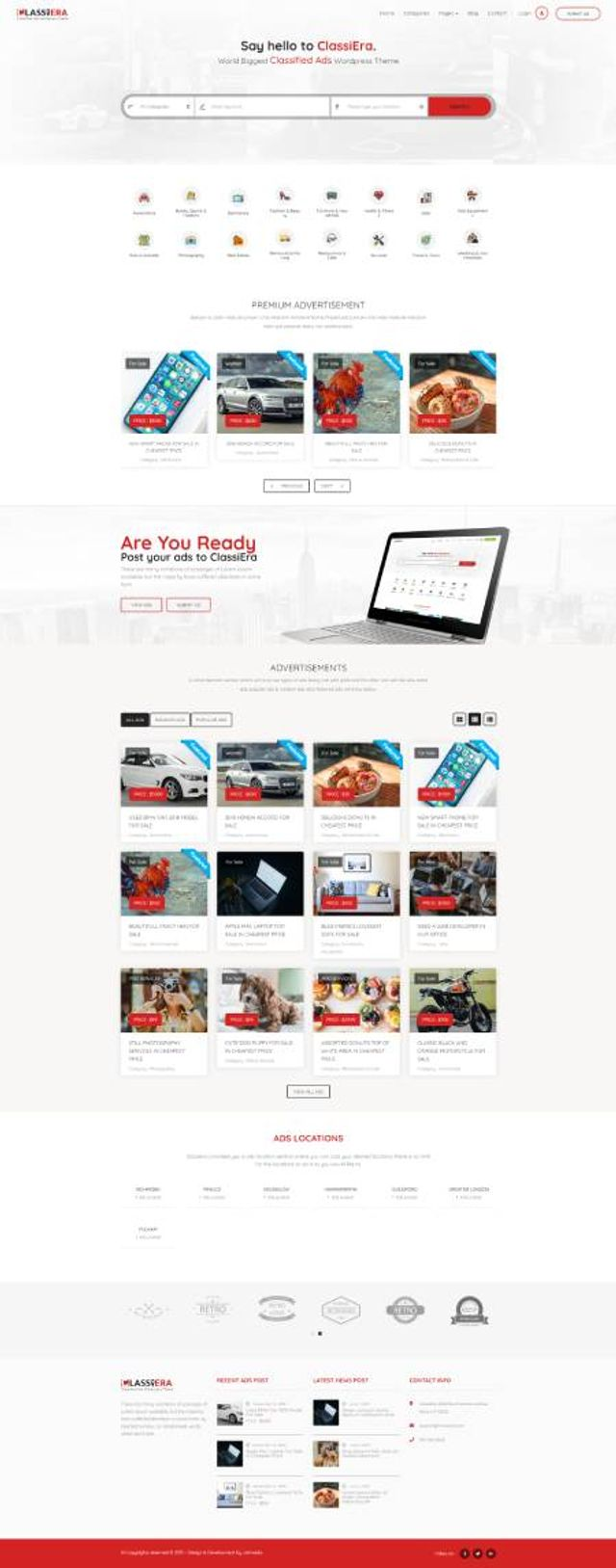 GD0724 – Mẫu Website Rao Vặt Classiera