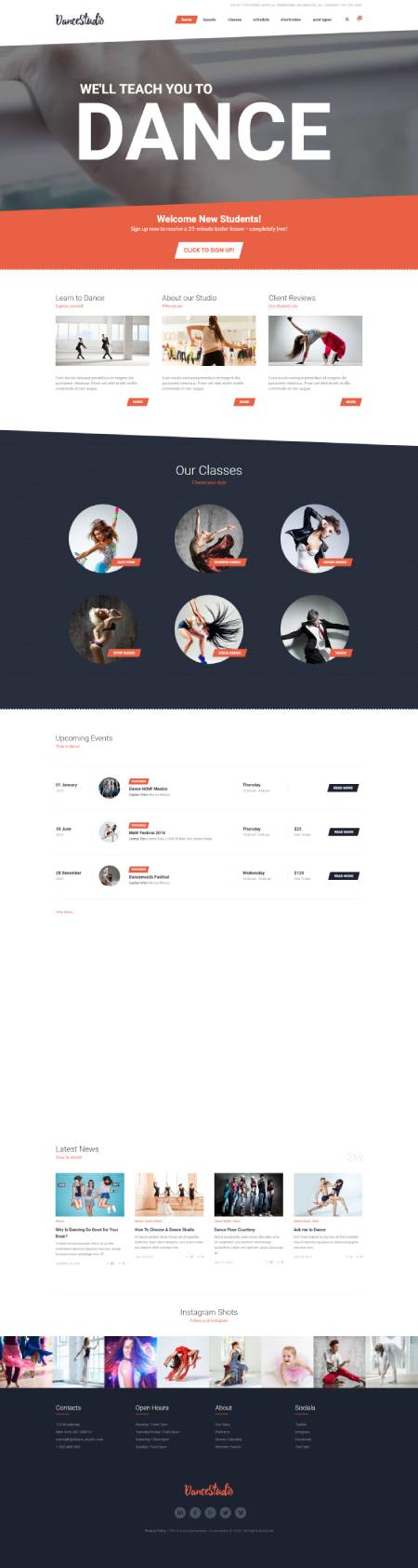 GD0177 – Mẫu Website Dạy Múa Dance Studio