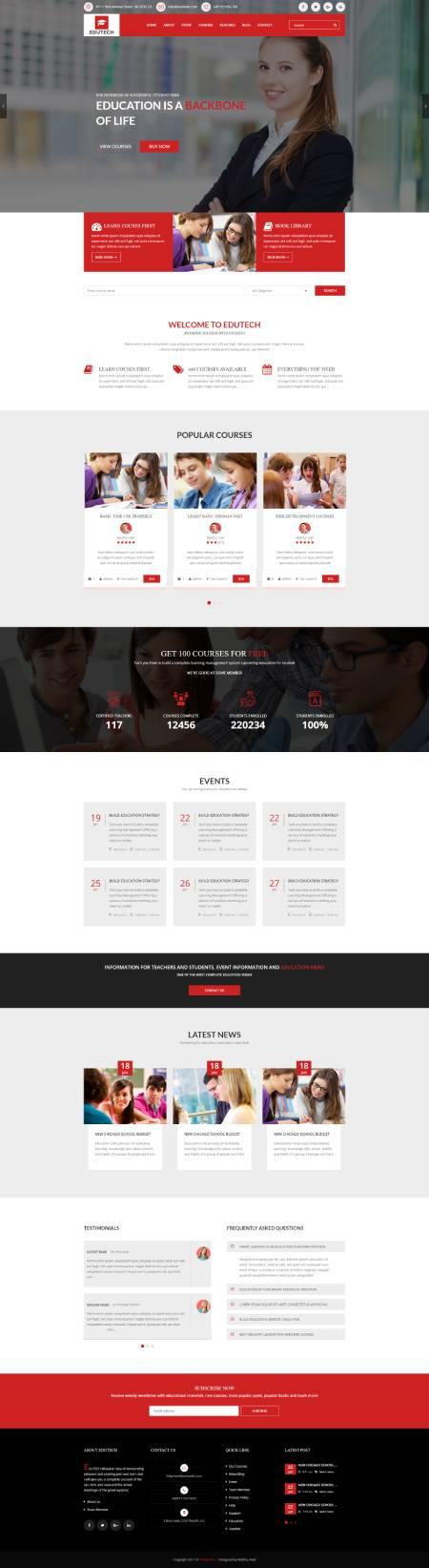 GD0066 – Mẫu Website Khóa Học Online Edutech