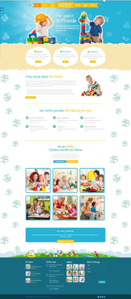 GD0116 – Mẫu Website Giáo Dục Trẻ Em Kiddy