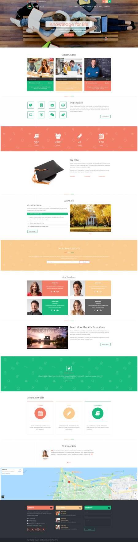 GD0068 – Mẫu Website Giới Thiệu Khóa Học Online UniLearn