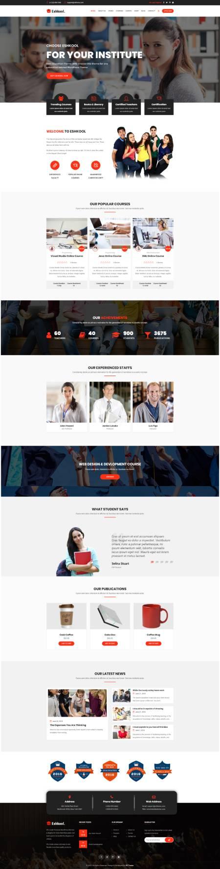 GD0067 – Mẫu Website Giới Thiệu Trung Tâm Dạy Học Eshkool
