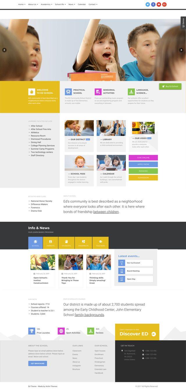 GD0733 – Web Giáo Dục Cho Học Sinh Cấp II EdSchool