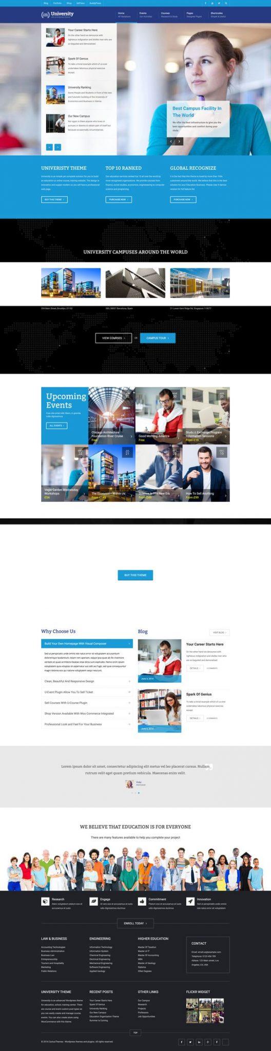 GD0734 – Web Giáo Dục Sự Kiện Khóa Học Online University