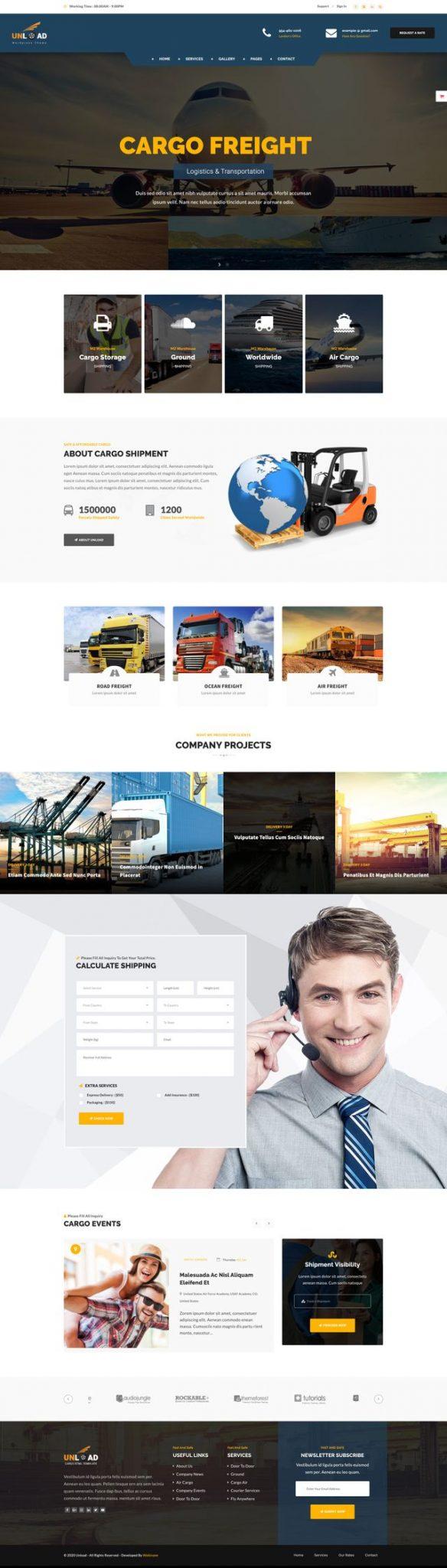 GD0736 – Web Vận Chuyển Giao Nhận Hàng Hóa Cargo